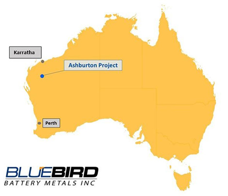 Ashburton Project Location Map
