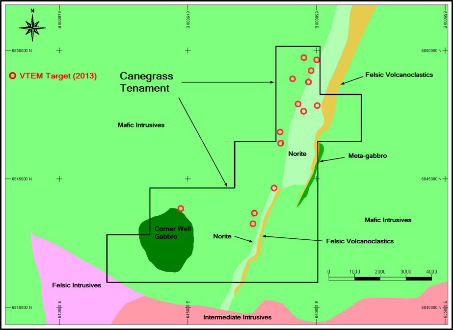 Canegrass Project Tenament Map